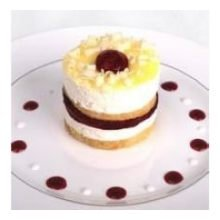 Raspberry Mousse - Davids Cookies Raspberry Lemon Drop Cake, 4 Ounce -- 24 per case.