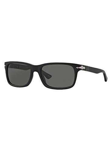 Persol Men's PO3048S - Polarized Black Antique/Grey Polarized