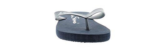 Ben Sherman Herren Gummiband, V-Form, Zehentrenner Design Zehentrenner mit der Marke Am Fußbett Perfect Flach, Pool oder Strand Schuhwerk für Ihr Urlaub - Marineblau - UK Größe