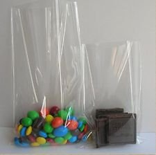 Treat Sweets Soap Gift Sweet DIY Items Pack of 100 Clear Cellophane Bags 8x13 Transparent Plastic Packaging bag for Small Toys Food-Safe Containers Candy Lollipops Cookies Party Favours