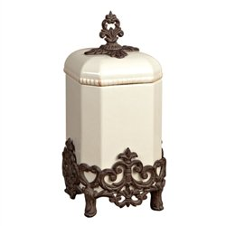 Medium Provencial Canister - Cream - Provencal Canister