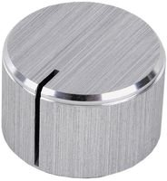 Knob Aluminium (MULTICOMP MC21027 ROUND ALUMINIUM KNOB, 6.4MM (5 pieces))
