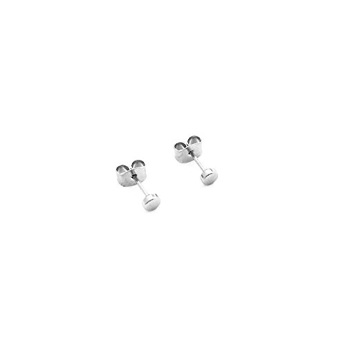 HONEYCAT Tiny Circle Stud Earrings in Silver | Minimalist, Delicate Jewelry (Silver)
