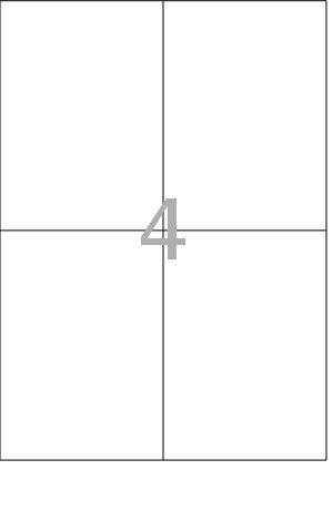 100x DIN A4 Etiketten Klebeetiketten selbstklebend Bögen weiß Größe 64,5x33,8 mm