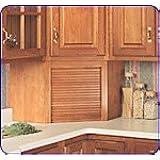Omega National 17 inch W Corner Appliance Garage with Veneer Door, Maple