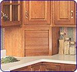 Omega National 17 inch W Corner Appliance Garage with Veneer Door, Cherry