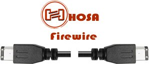Hosa FireWire 400 Cable, 4 Pin to Same, 6 ft
