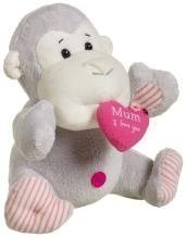 Elliot and Buttons Mum I Love You Captioned Morris Monkey Cuddly Gift