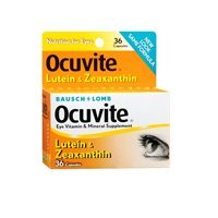 Bausch And Lomb Ocuvite Lutein Eye Vitamin And Mineral Supplement Capsules - 36 Ea (Pack of 3)