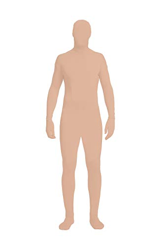 Full Bodysuit Unisex Lycra Spandex Stretch Adult Costume Zentai Disappearing Man Body Suit (Large, Nude)