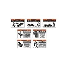 """7 Pack OEM Funny Snowmobile Warning Stickers Decal ZR F8 M8 decals 4.25"""" x 2.8"""""""