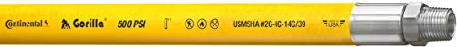 Continental Gorilla Yellow Nitrile Mulripurpose Hose, 3/8