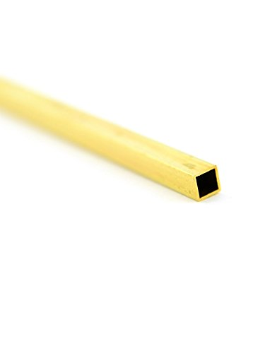 Square Brass Tube Pack - K & S Metal Tubing brass 5/32 in. x 5/32 in. x 12 in. square [PACK OF 10 ]