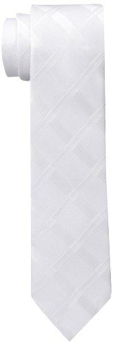Calvin Klein Men's Summer Whites Slim Tie, Ecru, One Size