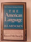 The American Language, H. L. Mencken, 039440081X