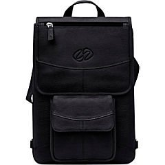 Premium Leather Macbook Flight Jacket Color: Black, Style: Basic Design with Backpack Straps, Size: 15'' by MacCase