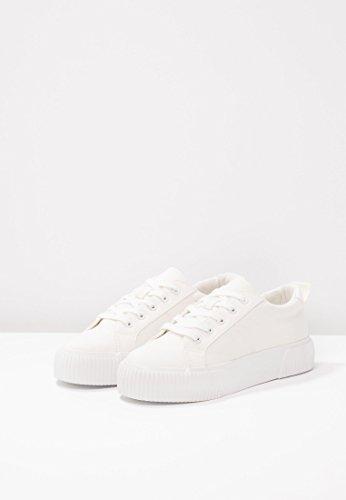 Suola Sneakers Scarpe Lacci Allacciate Sportive A amp;odd Scarpa Tessuto Con Plateau Even Donna In Tempo Libero Bianco Da 75AwWq1