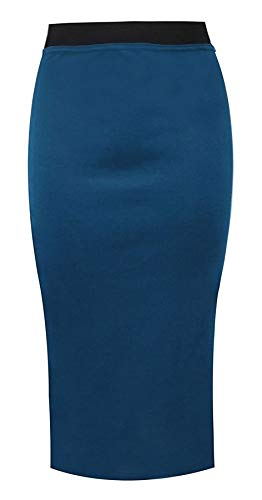 RIDDLED WITH STYLE - Jupe - Uni - Femme Noir * Taille Unique Bleu Sarcelle