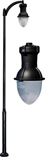 - DABMAR LIGHTING GM9270-B-MT Drop Light Post Light Fixture 70 Watt High Pressure Sodium/Mogul Base Multi-Tap, Black