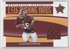 Clinton Portis #189/250 (Football Card) 2006 Leaf Rookies & Stars - Statistical Standouts - Materials [Memorabilia] #SS-20