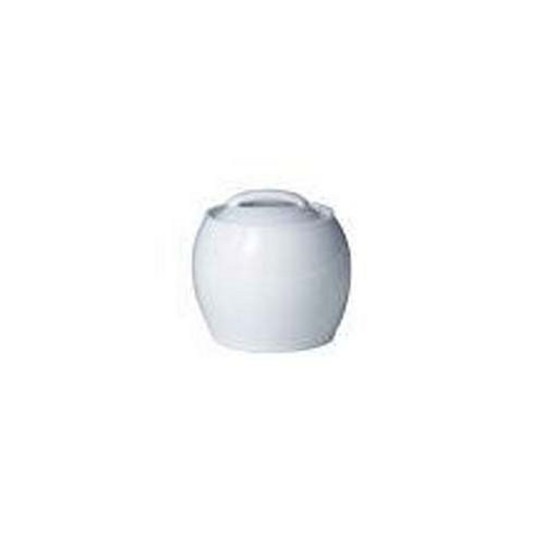 Denby White Covered Sugar (Denby Porcelain Sugar Bowl)