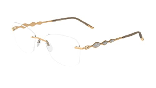 - Eyeglasses Silhouette Crystal Diva (4374) 4376 6051 Gold-Crystal 52/17/135 3 p