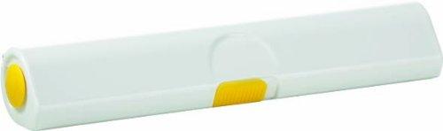 Emsa 508269 Dérouleur coupe-film papier d'aluminium et film alimentaire, taille 33 cm, Jaune/Blanc, Click & Cut