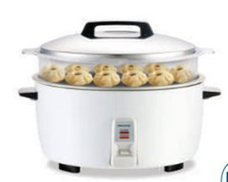 Panasonic SR-GA321SH 17 Cup Commercial Automatic Rice Cooker with Steam Basket, White
