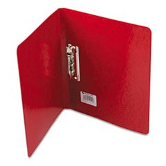 Presstex Grip Punchless Binder With Spring-Action Clamp, 5/8'' Capacity, Red By: ACCO