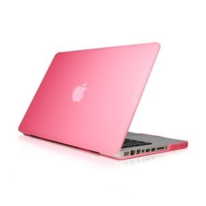 """NEW ARRIVALS! TopCase Rubberized BABY PINK Hard Case Cover for Macbook Pro 13-inch 13"""" (A1278/with or without Thunderbolt) with TopCase Mouse Pad"""