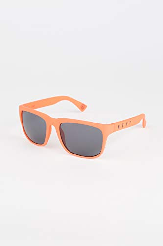 neff Adult's Chip Square Shaped Sunglasses UVA UVB Protective Unisex, infrared rubber/smoke, One ()