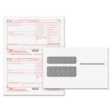 Tops 22904Kit W 2 Tax Form Envelope Kits  8 1 2 X 5 1 2  6 Part  Inkjet Laser  24 W 2S   1 W 3