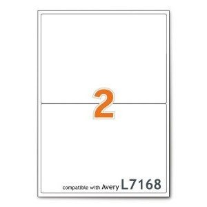 A4 Mailing Address Printer Labels Sheet 2 Labels Per Sheet 500 Sheets BULK BOX Sticker World
