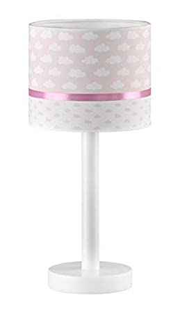 lampara sobremesa infantil o juvenil nubes (rosa): Amazon.es ...