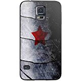 Red Star Avenger Winter Soldier for Iphone and Samsung Galaxy Case (Samsung Galaxy S5 black)