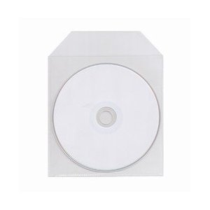 4000 Polyethylene Plastic CD/DVD With Flap - 5'' x 5'', 100 Micron by CPP (Image #1)