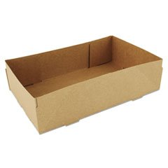 "Southern Champion Tray 0122 Kraft Paperboard 4 Corner Pop Up Food Tray, 8-5/8"" Length x 5-1/2"" Width x 2-1/4"" Height (Case of 500)"
