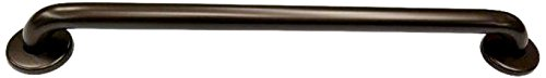 (CSI Bathware BAR-SB24-TW-125-OB ADA Stainless Steel Grab Straight Safety Bar with Concealed Flanges, 24-Inch, Oil Rubbed Bronze Finish)