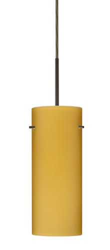 4123vm Led (Besa Lighting 1JC-4123VM-LED-BR 1X6W GU24 Stilo 10 LED Pendant with Vanilla Matte Glass, Bronze Finish)