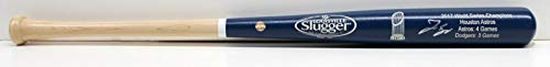 George Springer Houston Astros Signed Autograph Baseball Bat Limited Edition World Series Blue Dipped Steiner Sports Certified