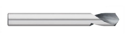 Titan TC18916 Solid Carbide N/C Spotting Drill, 140 degree Angle, Uncoated, 1/4' Size, 3/8' Flute Length, 1/4' Shank Diameter, 3' Overall Length