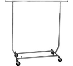 Commercial Grade Collapsible Rolling Garment Clothing Rack Metro Fixture & Display MCA240031