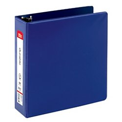 OfficeMax Durable Reference Binders with Round Ring 3'', Blue by OfficeMax