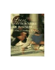 The Legal Environment of Business: A Critical-Thinking Approach
