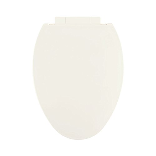 Centoco 1700SC-416 Plastic Elongated Toilet Seat with Closed Front, Biscuit/Linen