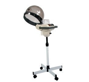 professional salon hair steamer chemical processor with caster base