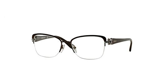Vogue Eyeglasses VO3966 934S Matte Brushed Brown 53 18 - For Women Vogue Eyeglasses