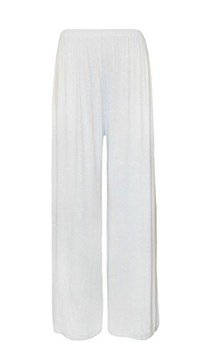 Cortinas plisadas patas de madera de ancho de mujer de Palazzo BaggyTrousers para mujer de ángel y destornilladores con pantalones de para mujer blanco