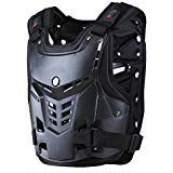 CRAZY AL'S CAM05 Body Armor Professional Motorcycle Motocross Racing Chest and Back Protector Motobike Bicycle Cycling Riding Motocross Gear Black White M/L/XL (Black, L)