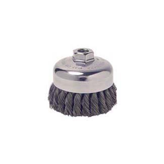 - WEILER CORP. 13156P - 3-1/2\ Single Row Knot Wire Cup Brush, .023\
